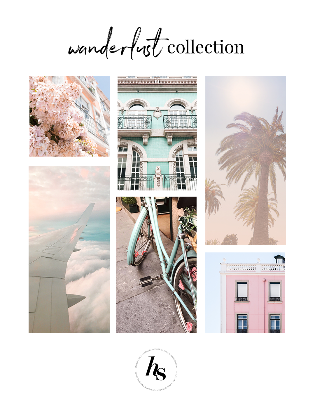 Haute Stock's Wanderlust collection has the perfect dreamy travel inspired stock photos for lifestyle brands. You'll want to see the full preview of the collection here!