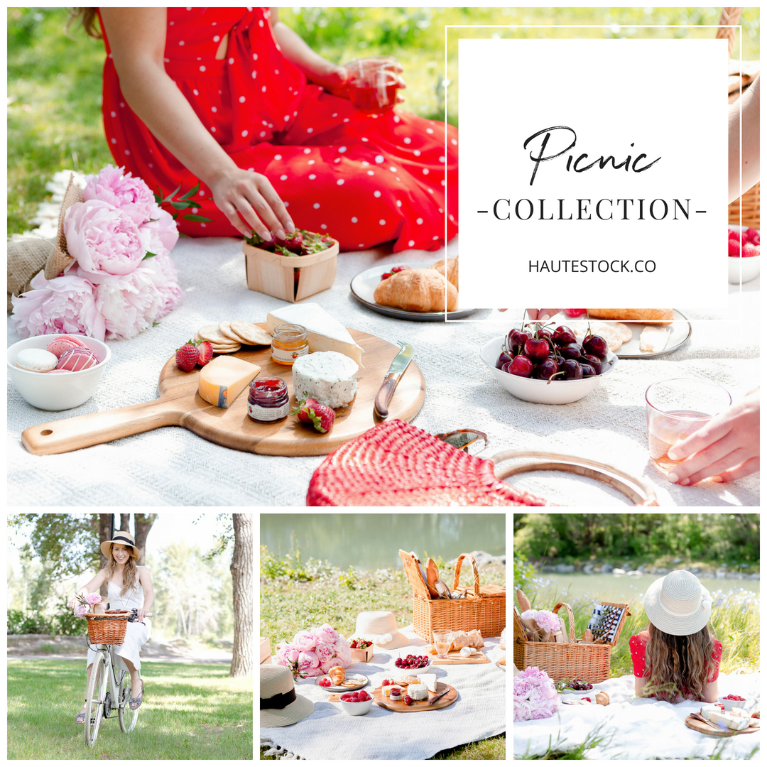 Haute Stock Picnic Lifestyle Collection of vintage inspired lifestyle images for women bloggers and business owners.