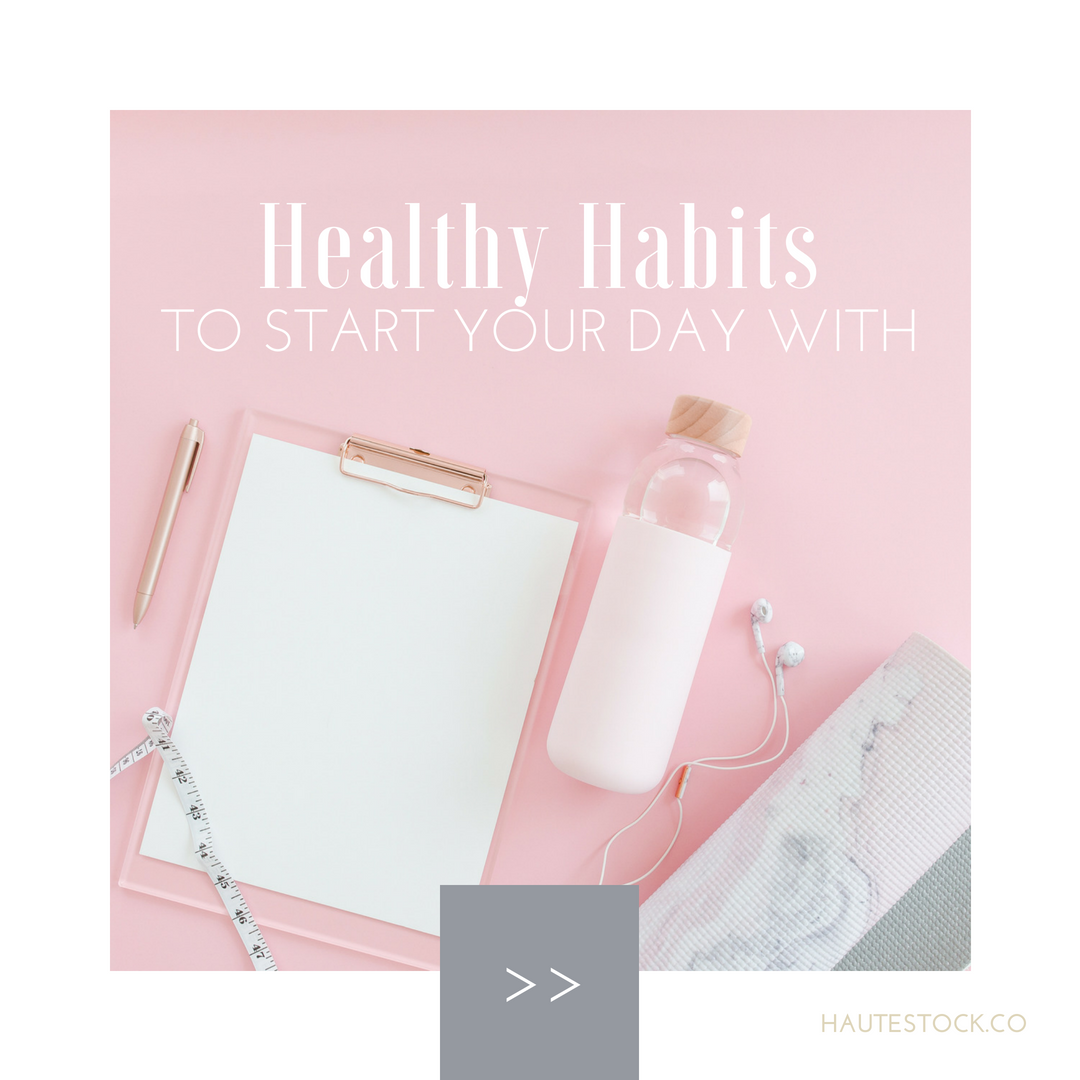 Haute Stock's example for how to combine different collections while creating a cohesive brand look for your social media graphics. Click to read more design tips and view more graphic examples!