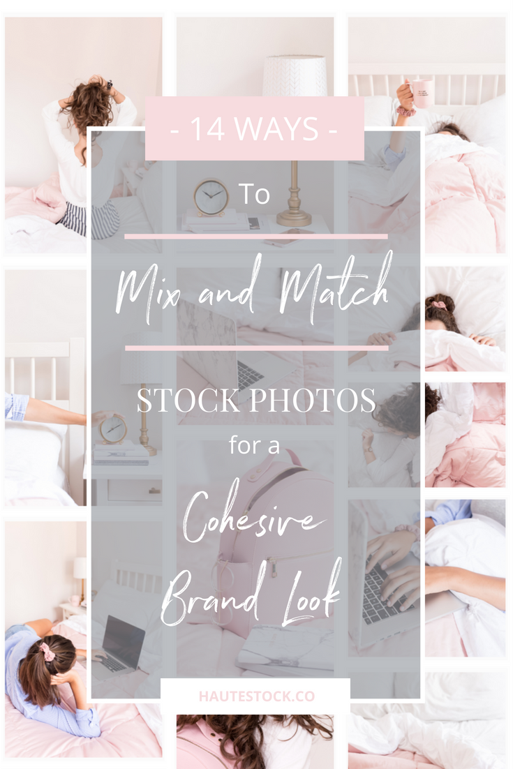 Need help combining Haute Stock collections to create a cohesive brand look? Then this blog post is for you. Click to see graphic examples of how to mix and match Haute Stock collections Five More Minutes, Please and Pink & Grey.
