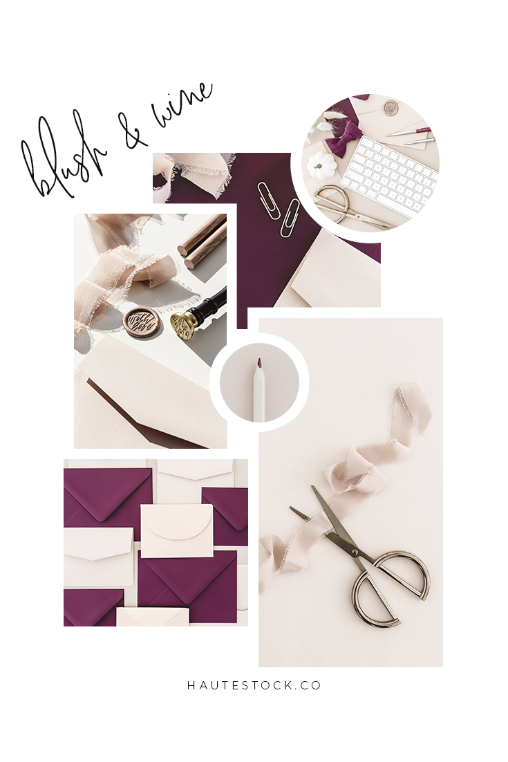 Blush styled stock photography for stationery designers and creative entrepreneurs from Haute Stock
