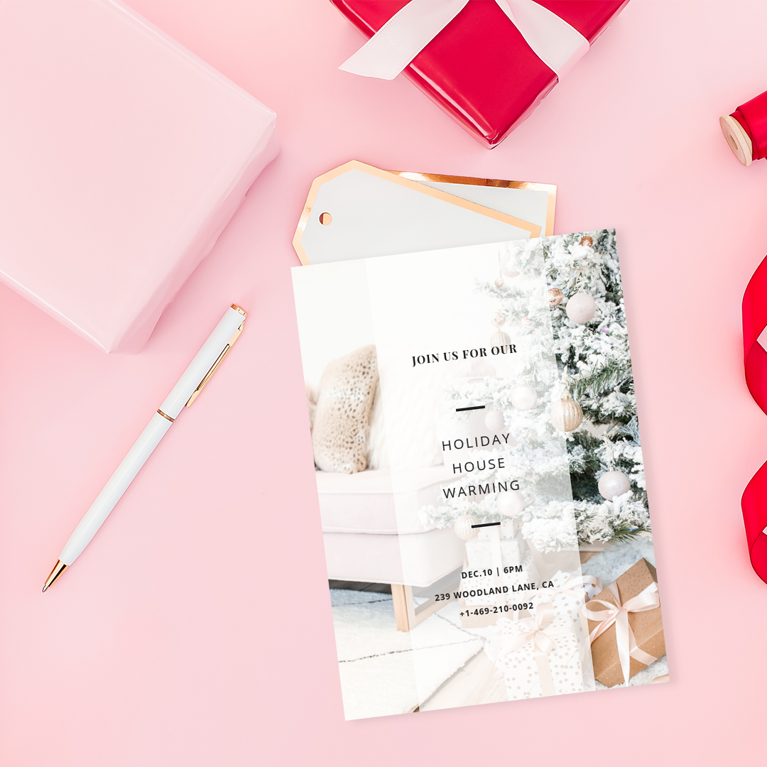 Haute Stock's Pink & Red Holiday Collection has flatlays with negative space - a beautiful backdrop for your invitations & product mockups.