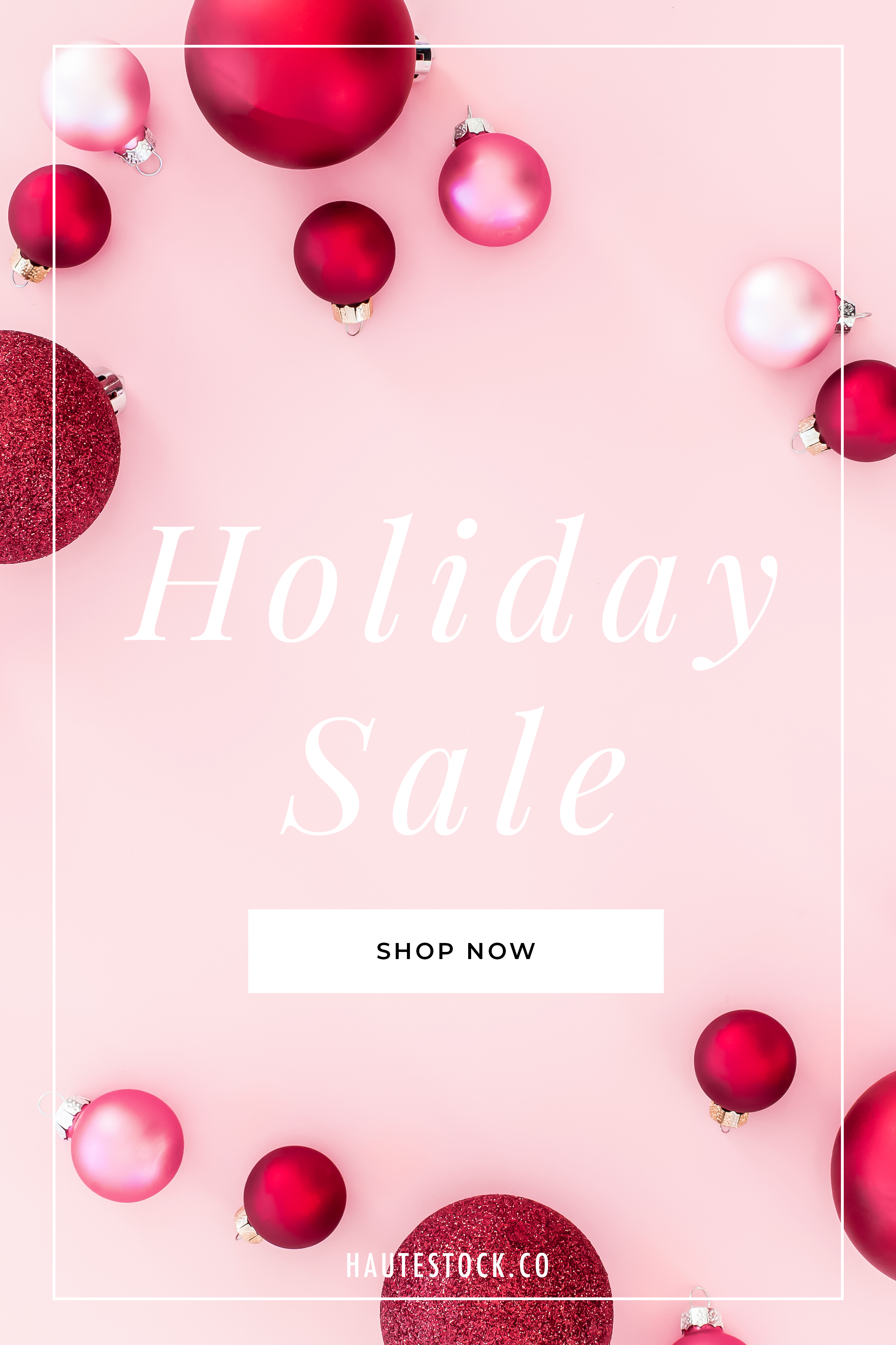 Haute Stock's Pink & Red Collection has your perfect bold images for the backdrop of your newsletter sales graphics!