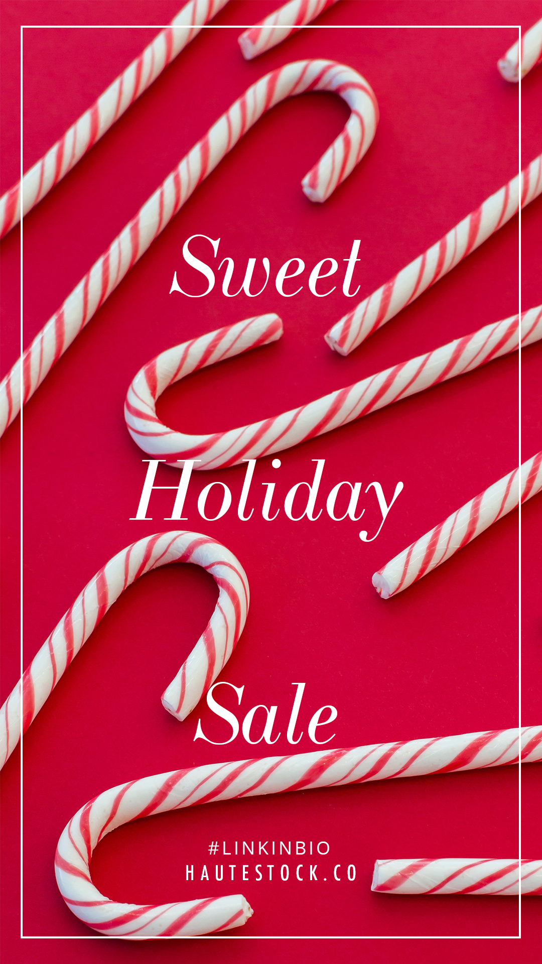 Create scroll-stopping graphics for your business' holiday sale with Haute Stock's holiday images.