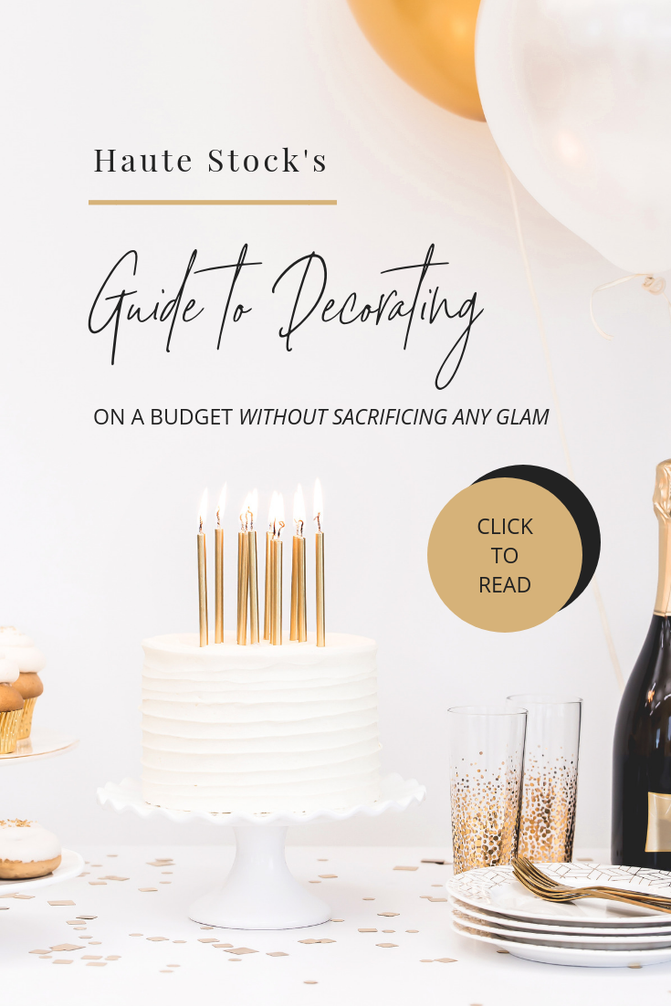 Example of a blog post graphic using the Haute Stock Celebration Collection. It's easy to create gorgeous, eye-catching graphics for your blog - click to read the post for more ideas!