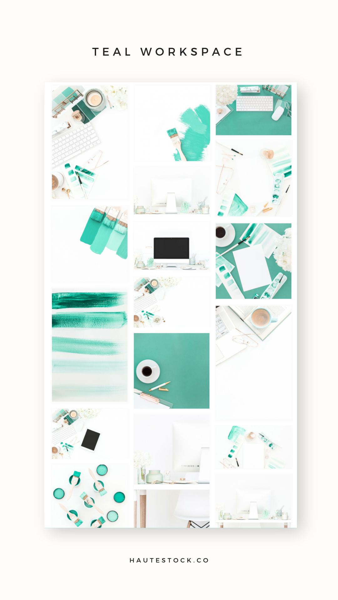 Haute Stock's Teal Workspace styled stock photo collection is perfect for brands that need feminine styled images that are beautiful and high-quality.