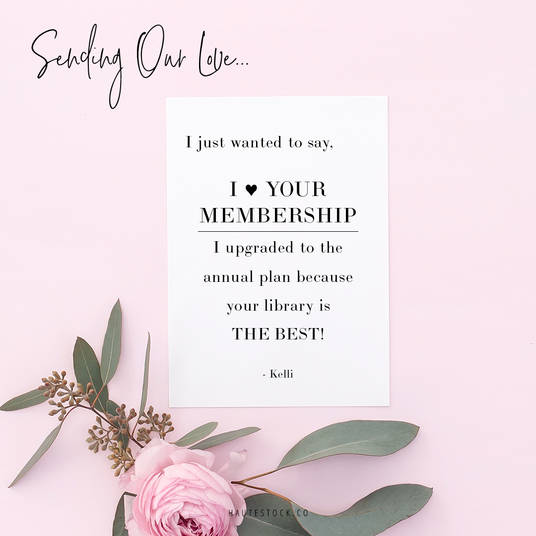 Haute Stock's stationery mockups are extremely versatile! Use these gorgeous images to share love letters from your best customers! For more design inspiration, click here!