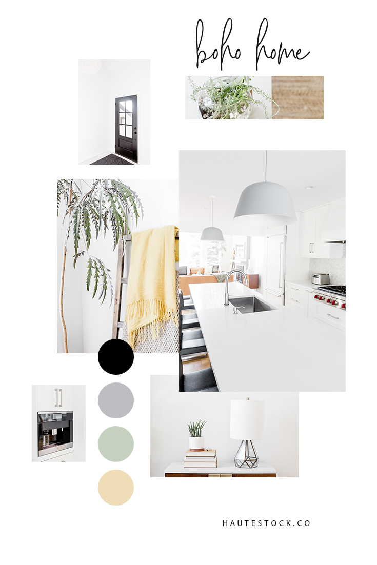 Bohemian modern interior images from Haute Stock's Boho Home Collection.  These images are perfect for home organizers, interior decorators, realtors, lifestyle bloggers & anyone looking to add beautiful content to their feeds and brands.