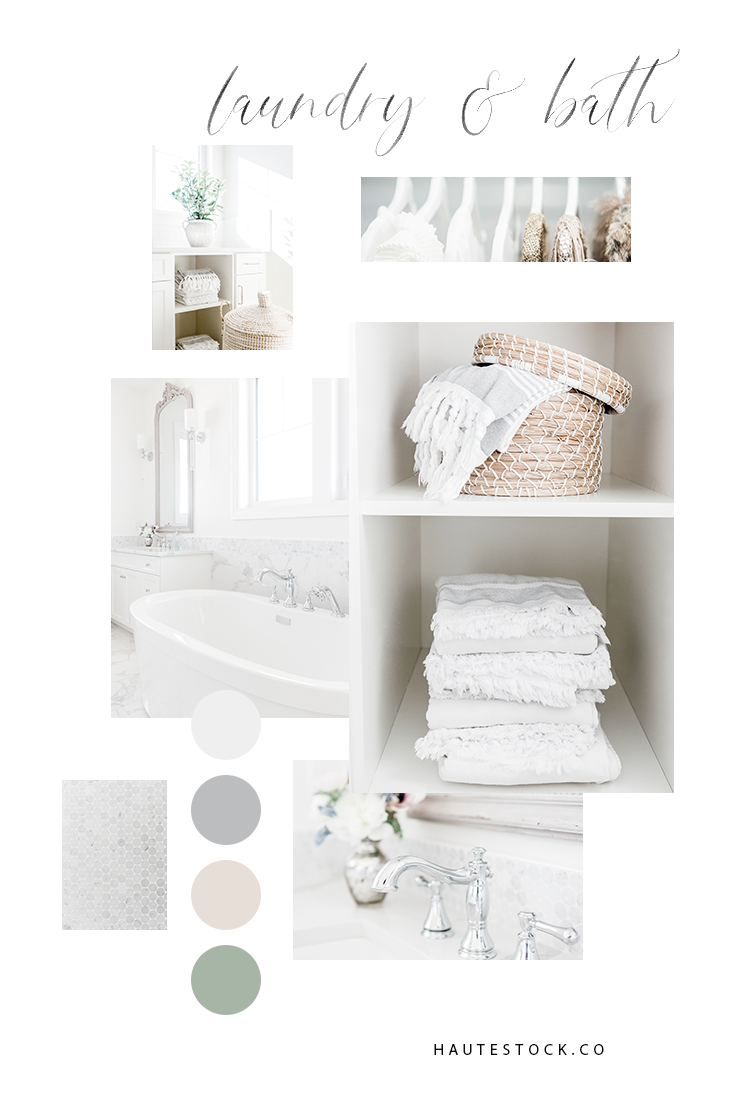 Lifestyle, bath and laundry images from Haute Stock that features bright and light images with a neutral color palette. Click to see a full preview of the collection!