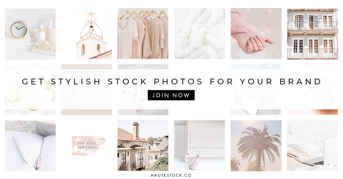Haute Stock Photography Membership for female entrepreneurs. Beautiful, high-quality styled stock photos for women business owners, bloggers and creatives from Haute Stock.
