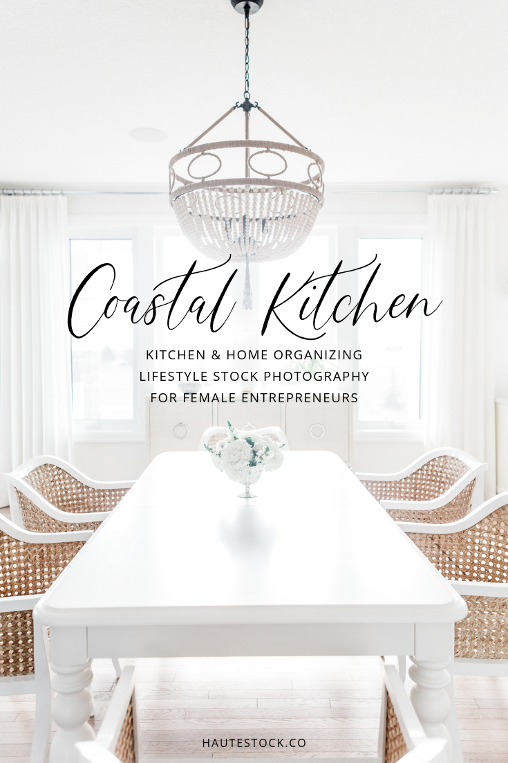 Bright, white, kitchen stock photos for female entrepreneurs from Haute Stock. Click through to view the entire collection.