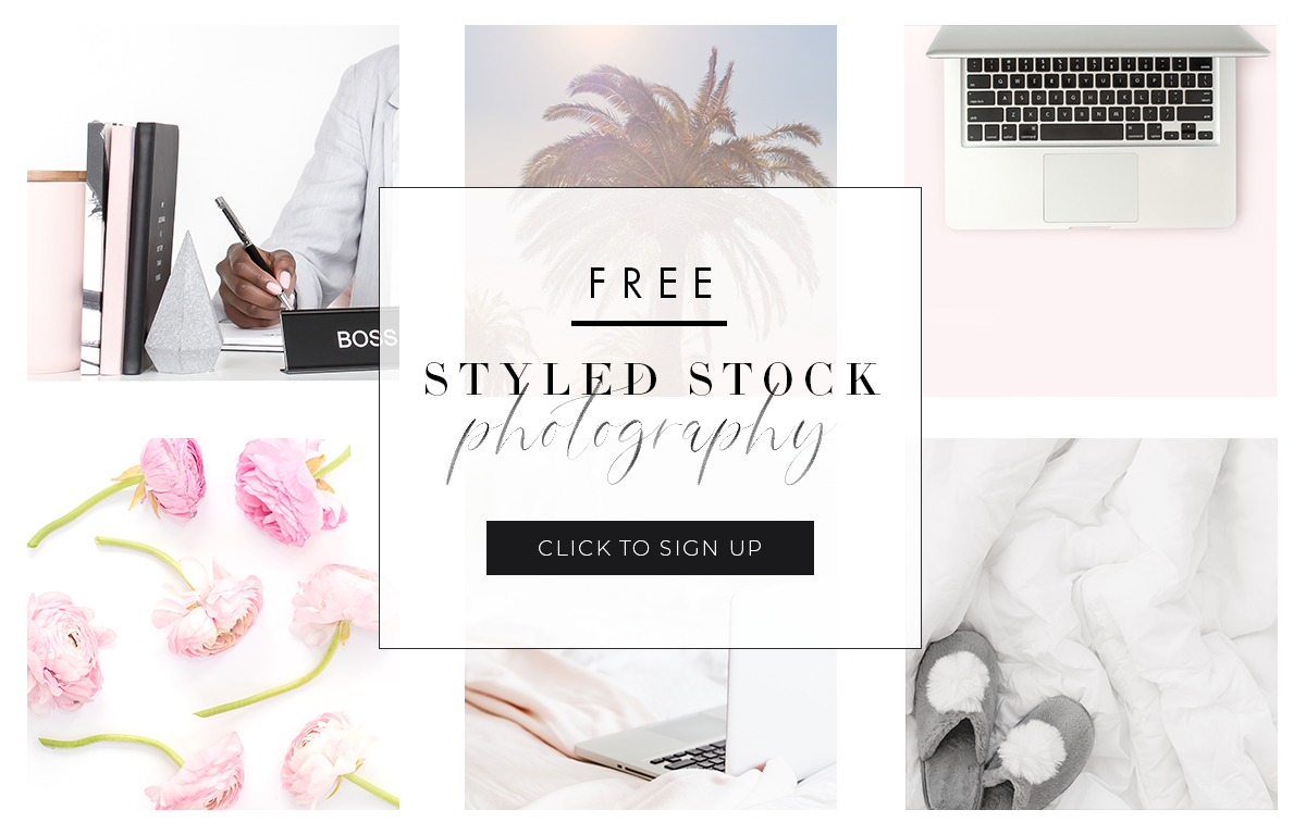 Get 21 gorgeous free styled stock photos from Haute Stock when you sign up for the newsletter. You'll receive beautiful, high-quality stock photos that you can use for social media posts, blog posts, website graphics and so much more! Click to sign up!