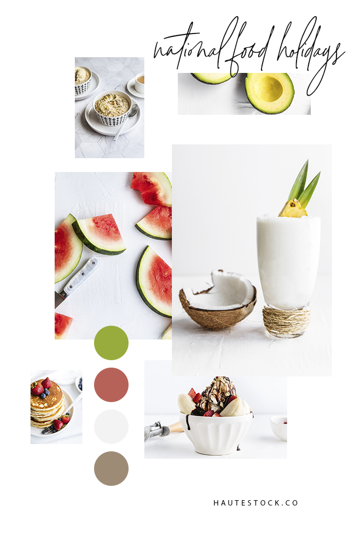 Food styled stock photography for national microholidays or for food and lifestyle bloggers from Haute Stock! Click for a preview of the entire collection!