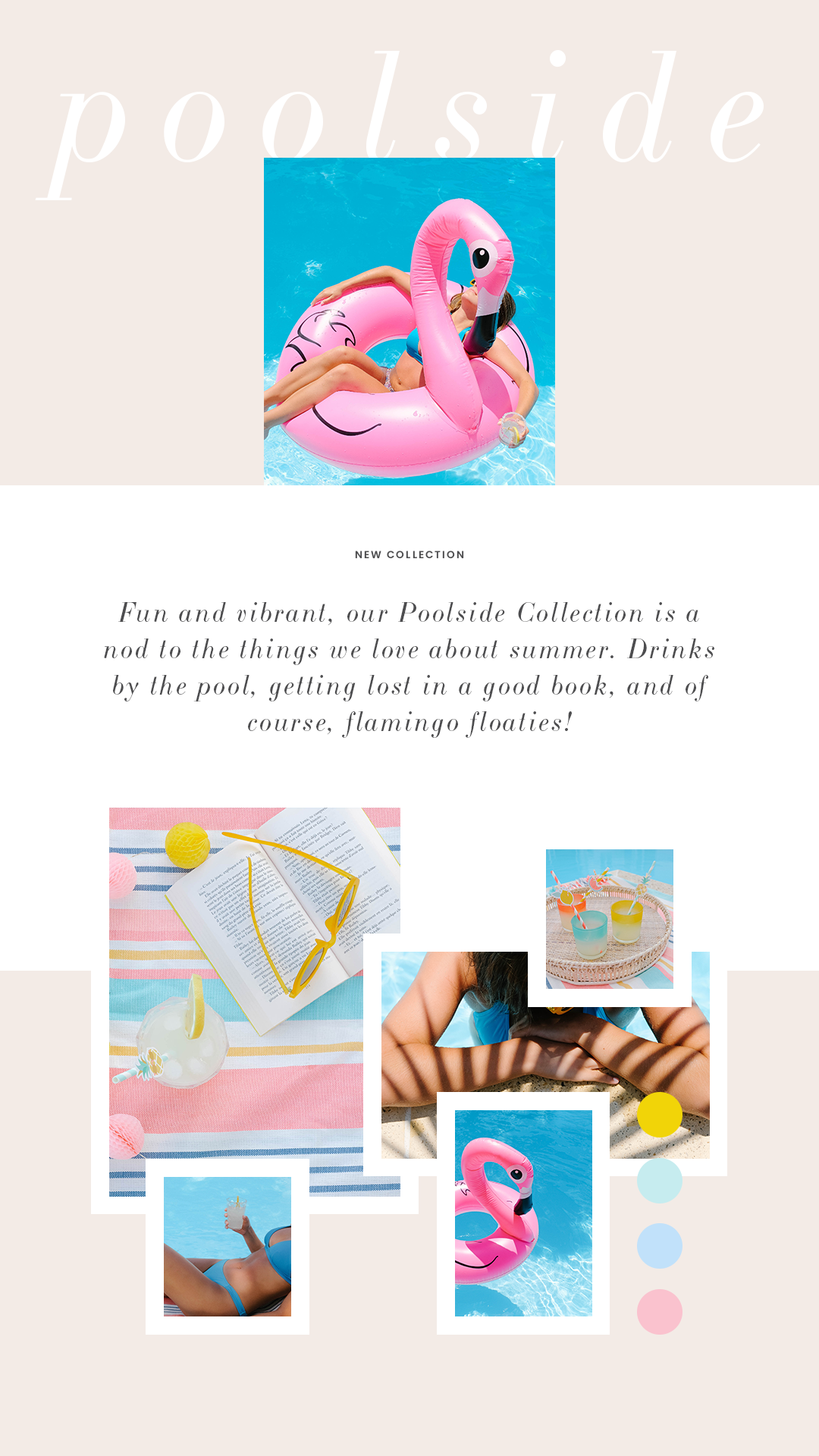 Fun & vibrant summer styled stock photography for female entrepreneurs from Haute Stock's Poolside Collection!