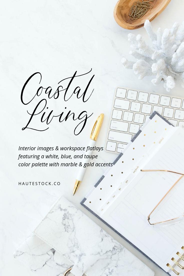 Coastal inspired stock brand photos from Haute Stock.