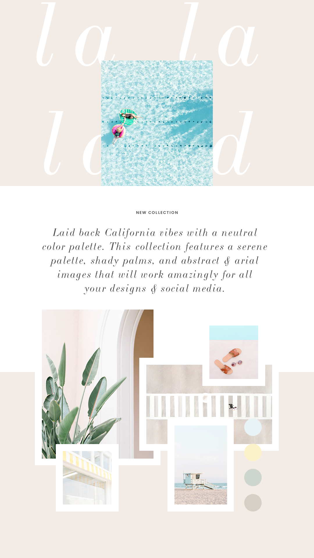 Hold onto summer with Haute Stock's La La Land Collection filled with neutral, abstract lifestyle and travel inspired styled stock photography for female entrepreneur's business, social media and graphics designs!