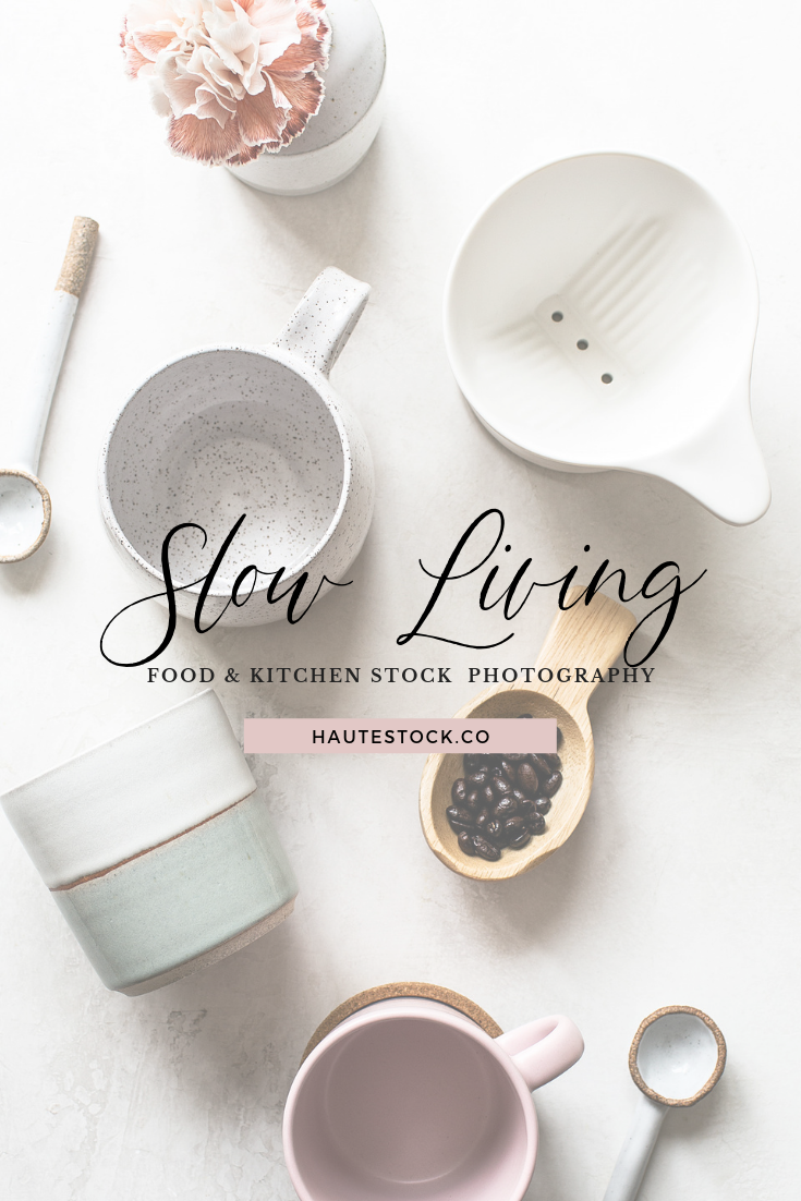 Our latest collection Slow Living is a celebration of intentional living, taking things slow, and artisanal craftsmanship. With a neutral color palette, textured backgrounds, warm wood tones, ceramic elements, and organic fabrics, this collection is perfect for brands that embrace nature and simplicity. The perfect food and kitchen styled stock photos for modern, minimal brands. Click for a full preview!