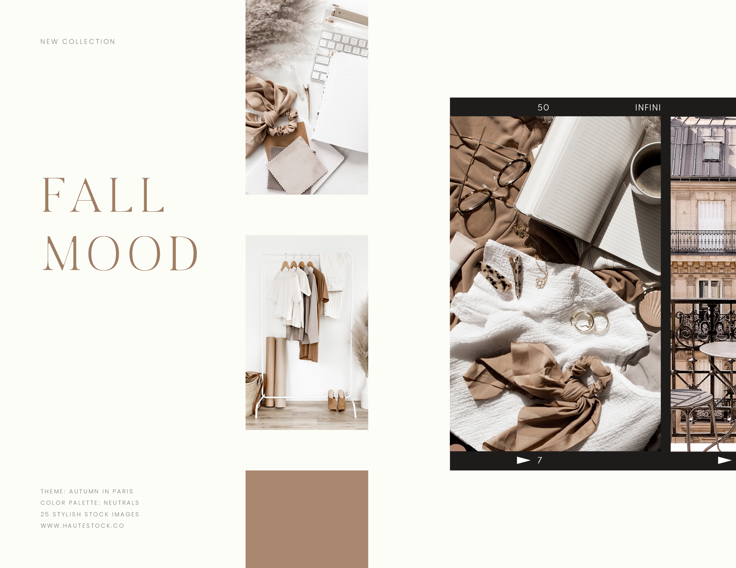 This collection from Haute Stock - Fall Mood is perfect for women business owner's content!