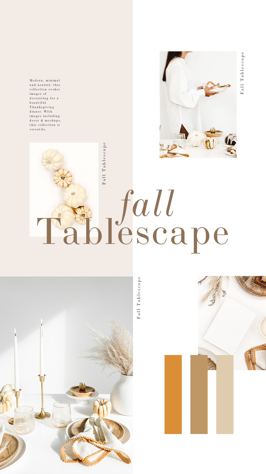 Neutral fall decor stock photos. Entertaining stock photos. Autumn stock photos. Fall tablescape stock photos. Available exclusively for Haute Stock Members. Click to view collection.