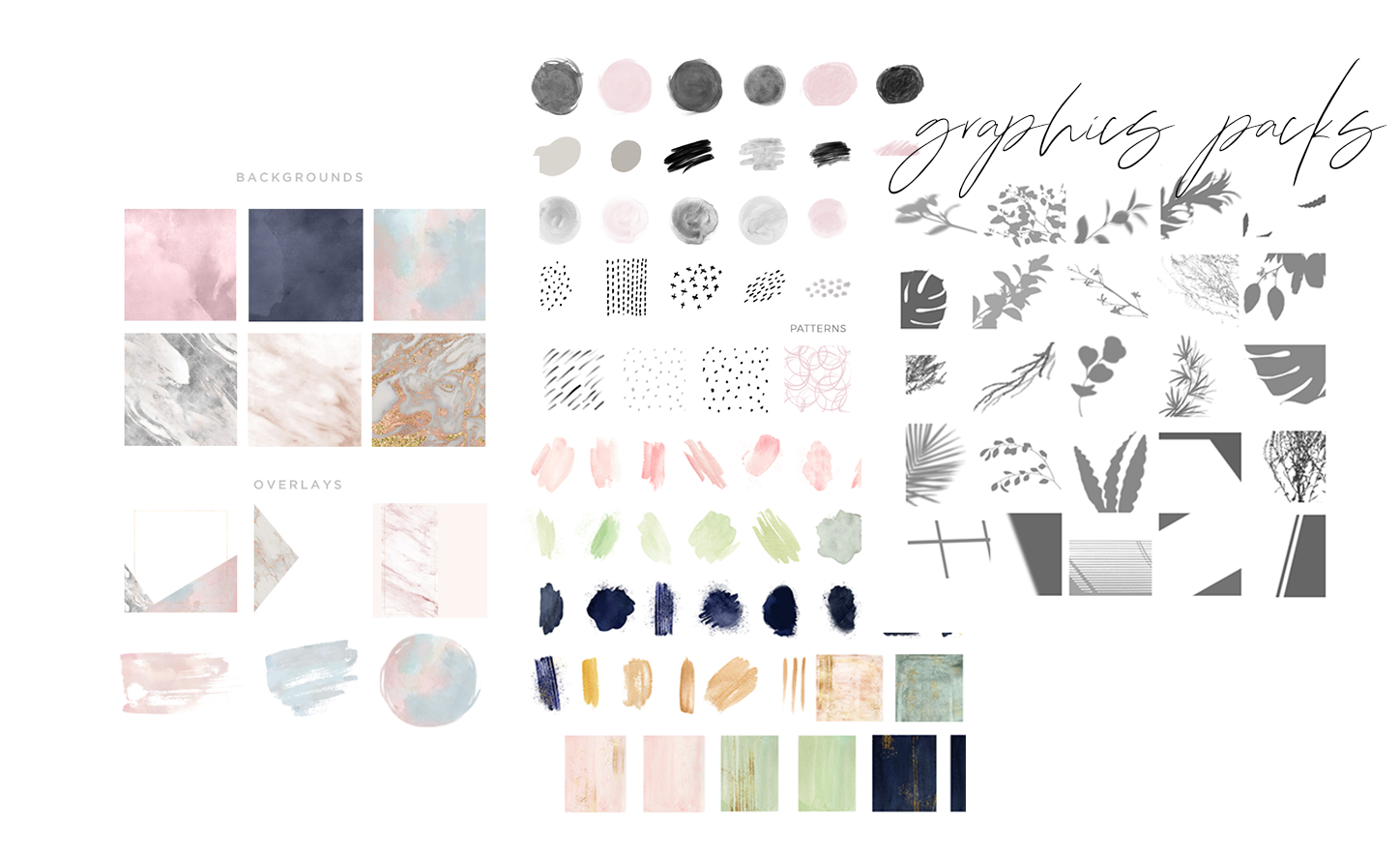 Exclusive Design Assets - New Graphics Packs are released every month. Full of gorgeous design assets like icons, backgrounds, overlays, frame, shadows, and brush strokes, forget about buying additional design assets elsewhere, we have you covered!
