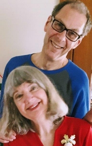 Judy and Gil at their home in May 2017