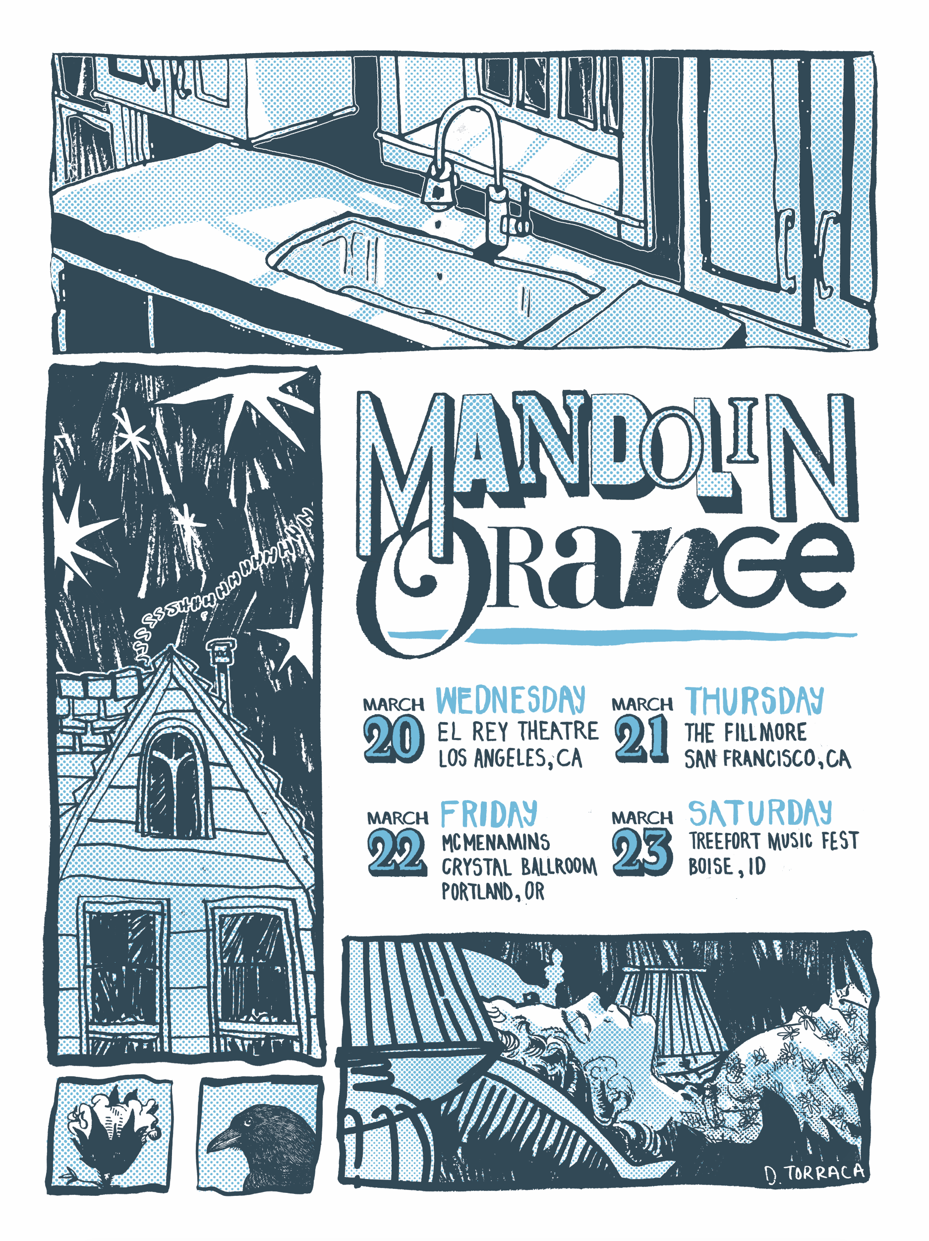 "Mandolin Orange   03.20.2019 - 03.23.2019  Role: Poster Design 18""x24"""