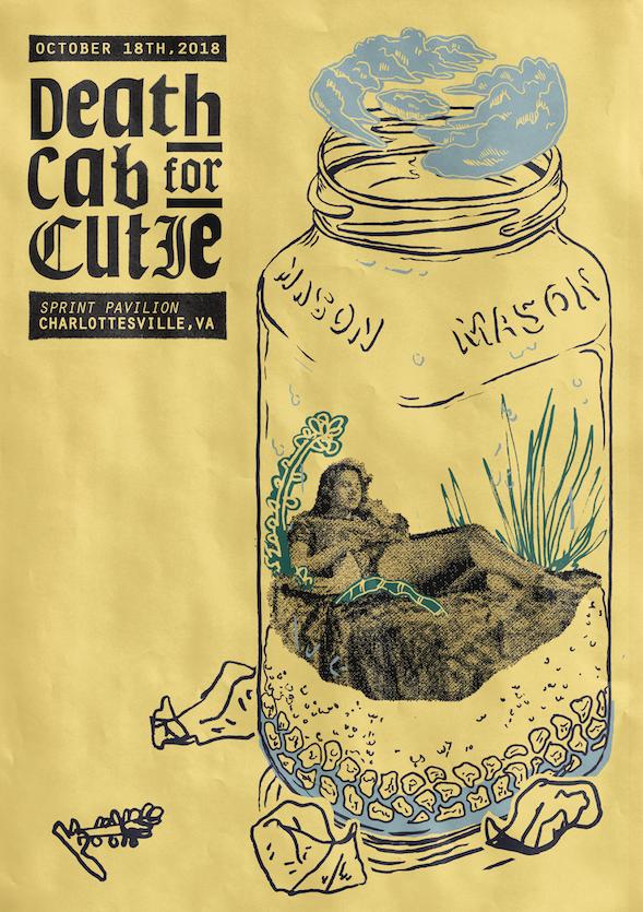 Death Cab for Cutie Poster    Role: Poster Design Conceptual Design