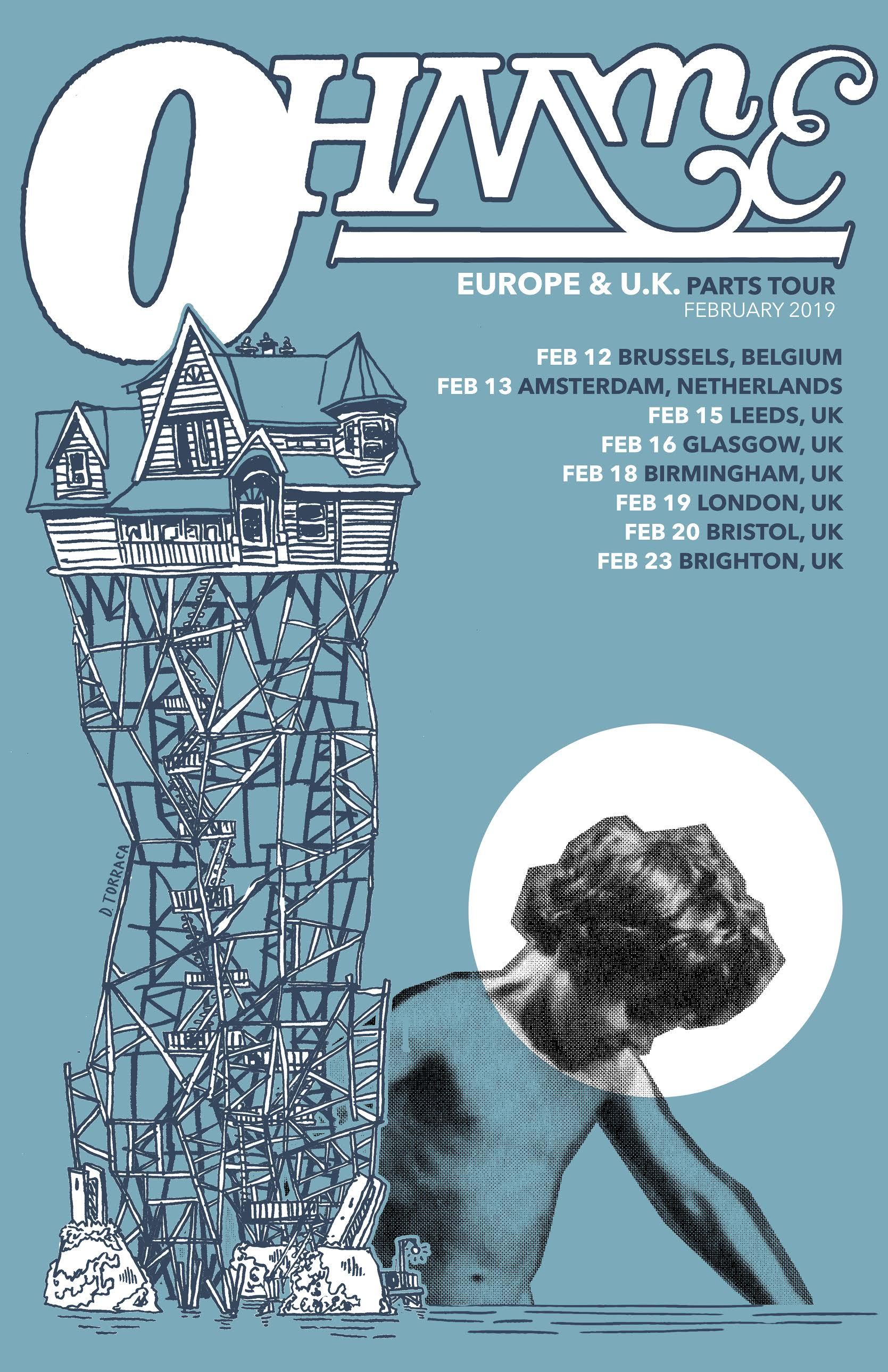 "OHMME   European Tour  Role: Poster Design 11""x17"""