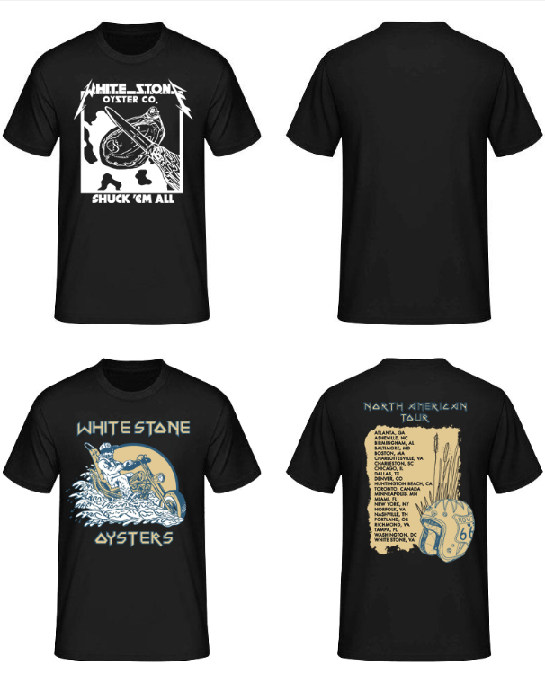 White Stone Oysters Company T-Shirts     Role: Design