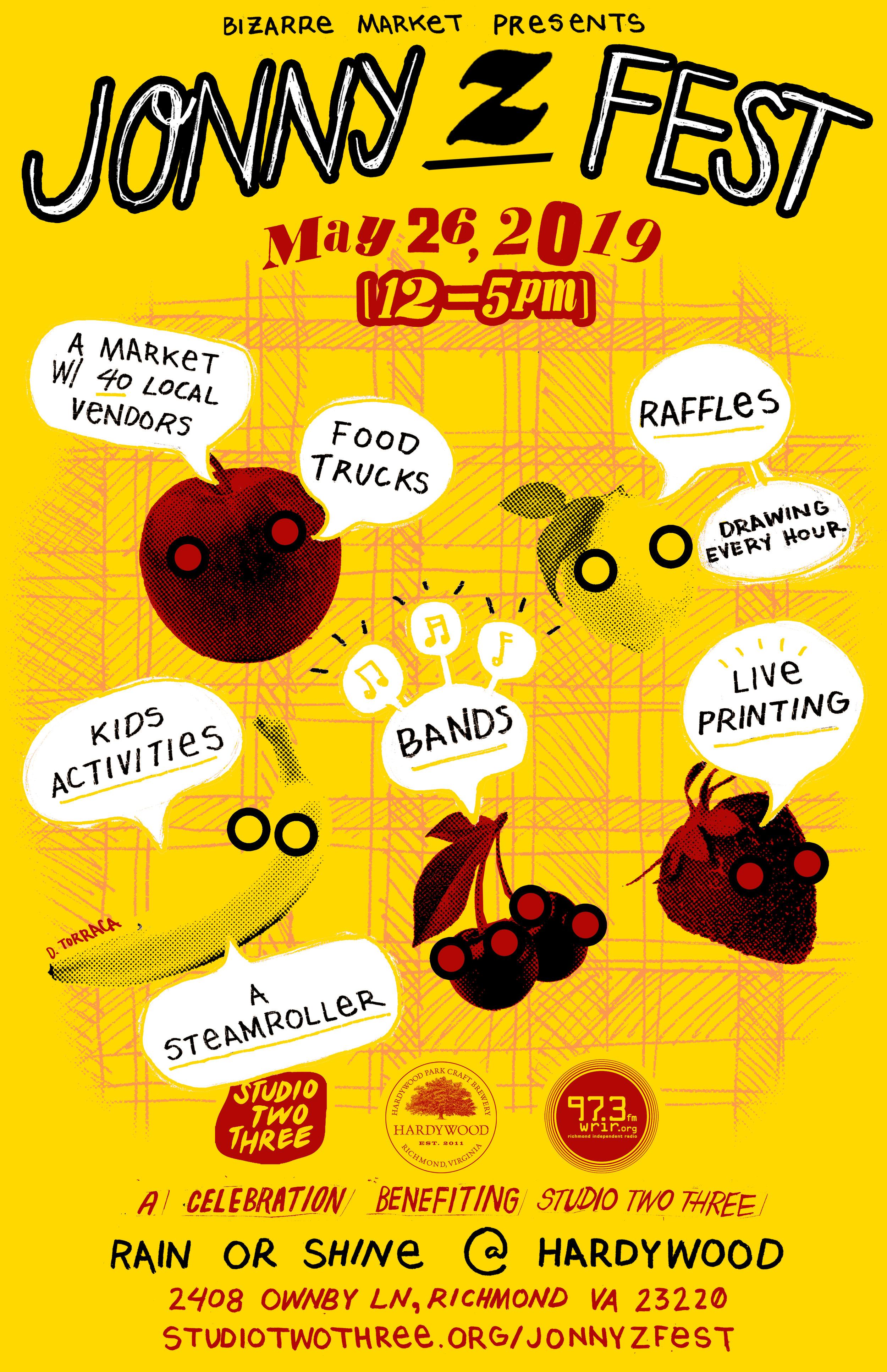 "Jonny Z Fest   03.20.2019  Role: Poster Design 11""x17"""