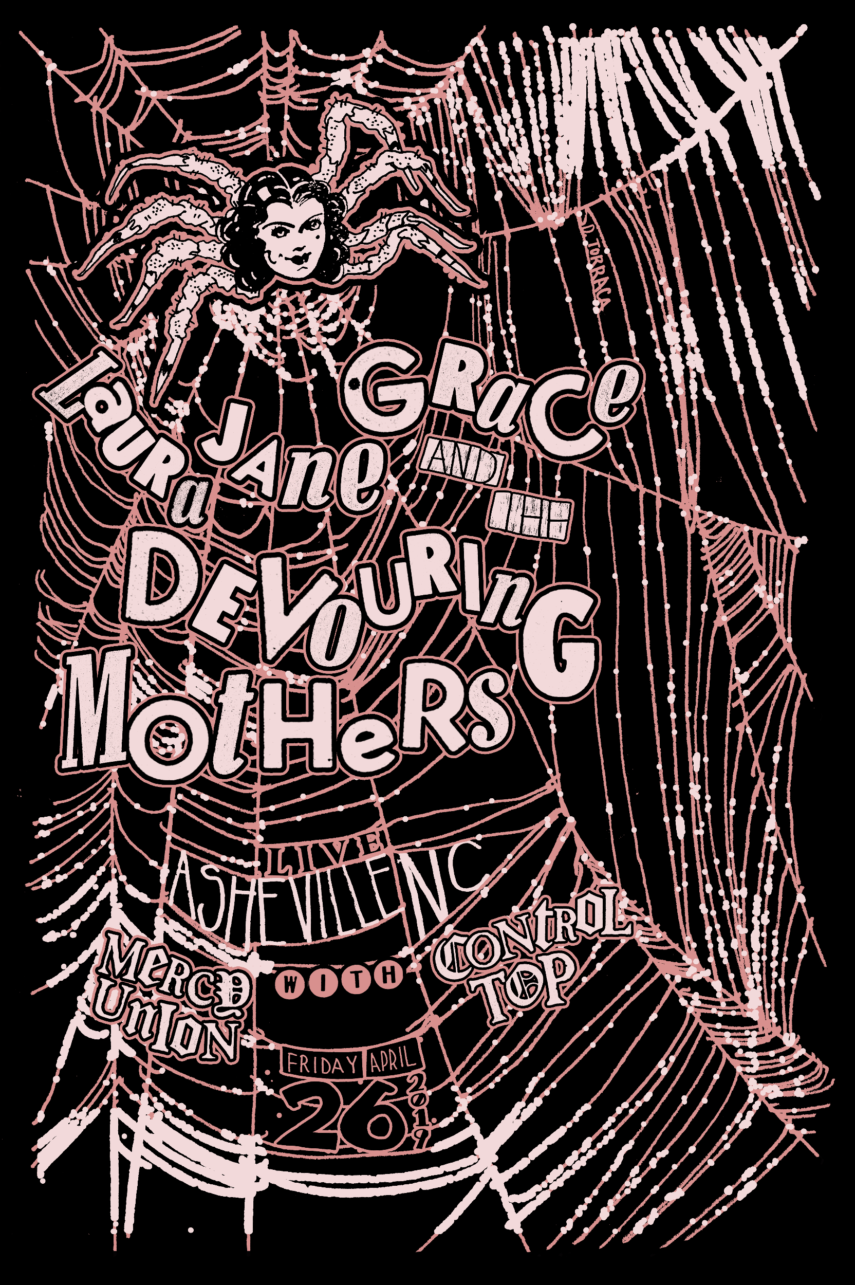 "Laura Jane Grace and the Devouring Mothers   04.26.2019  Role: Poster Design 24""x36"""