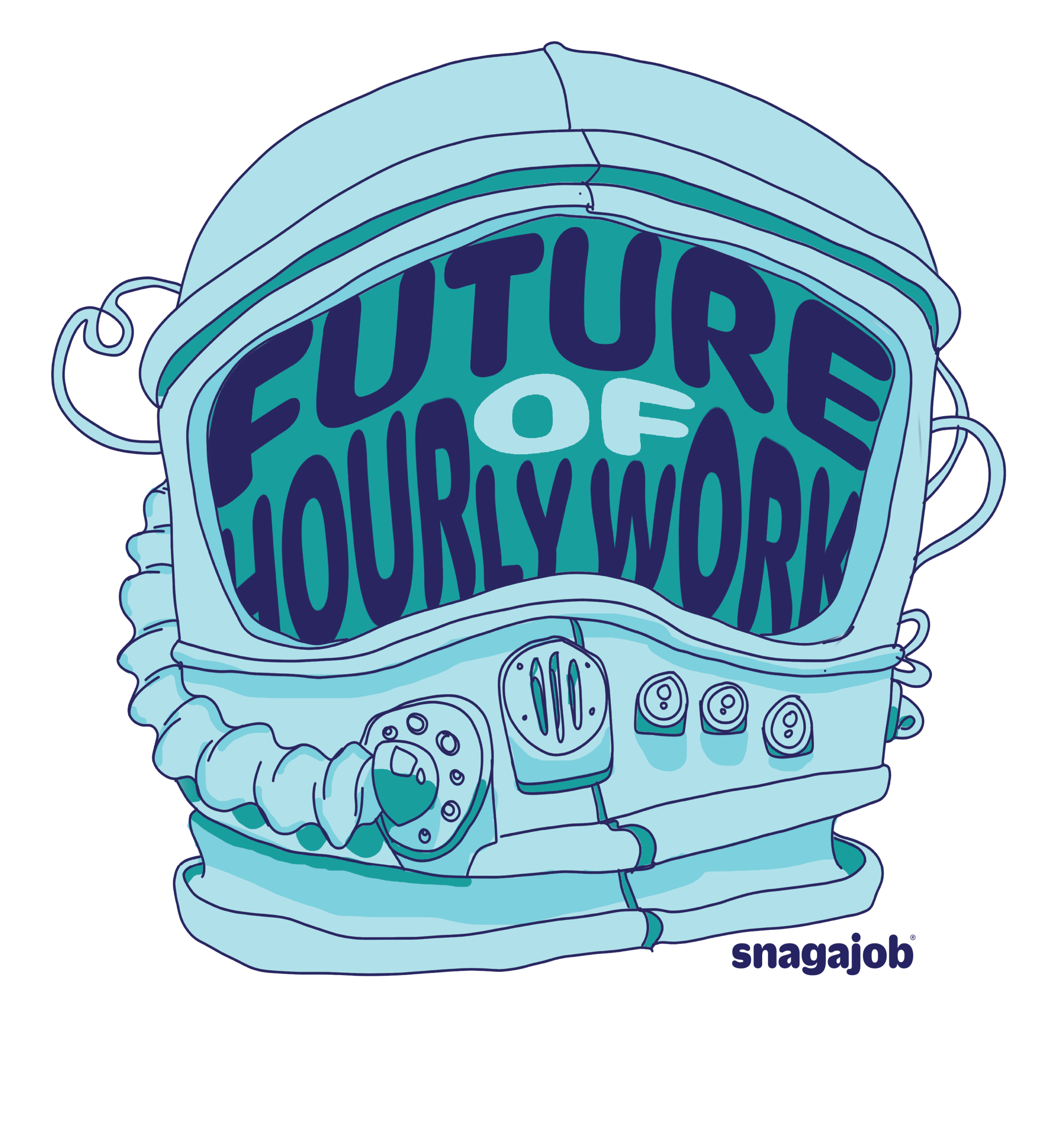 Hour Minds: The future of hourly work    Role: Event Brand Designer/Illustrator Digital/Physical