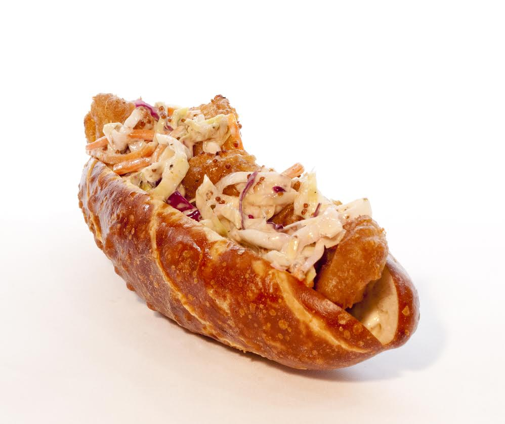 Dark Battered Walleye Sandwich