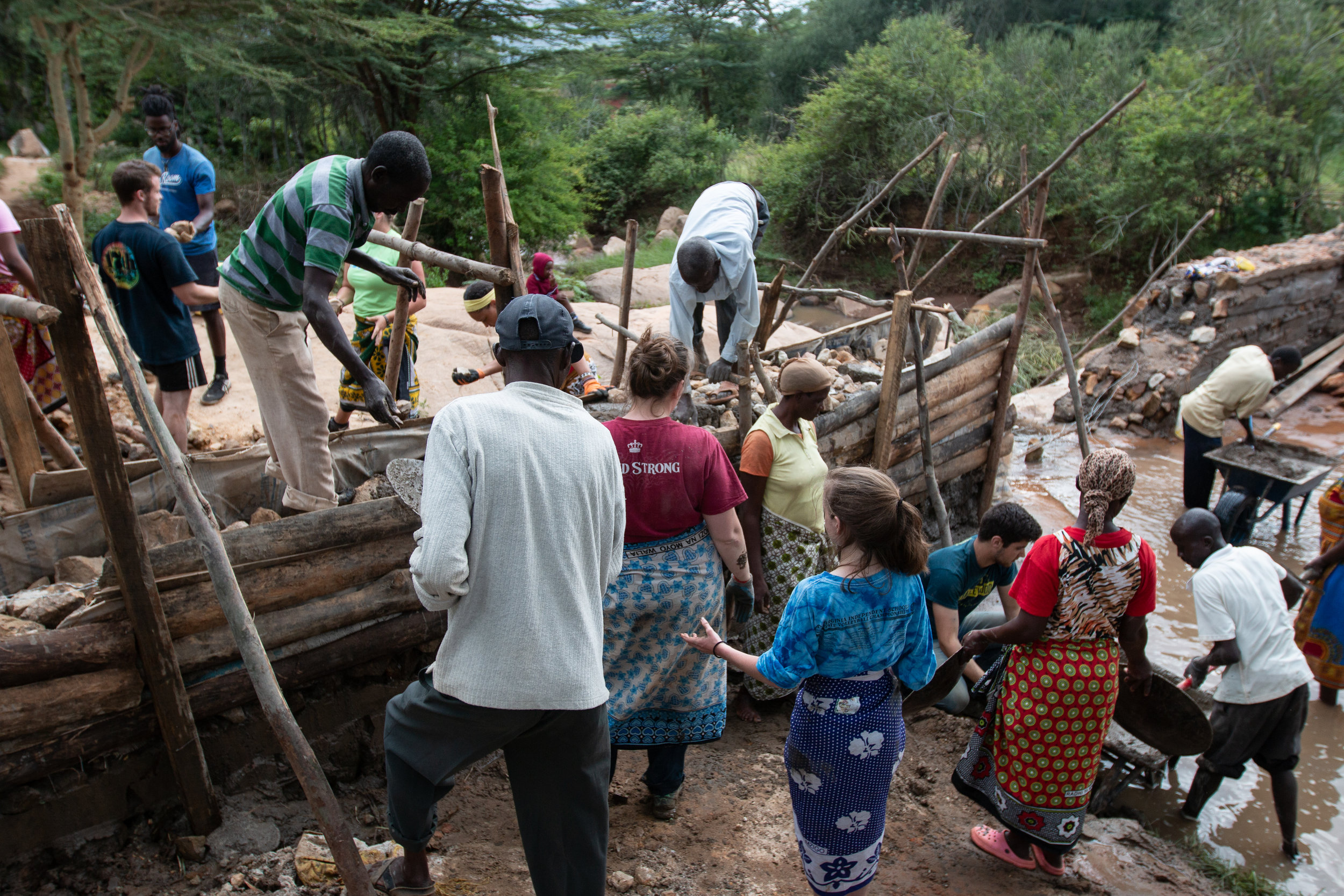 Sand Dam - Building a sustainable water source for the community