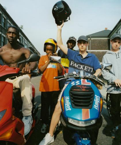 Teenagers on Scooters, East London 2000. ©Phil Knott / PYMCA
