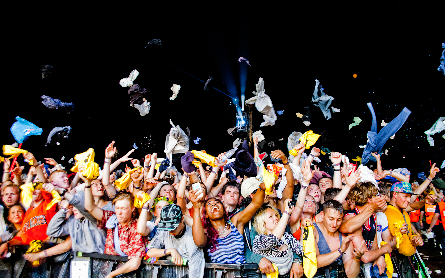 Roskilde Festival / Major Lazer crowd, Denmark, 06/07 2014.  ©  Gonzales Photo/Helena Lundquist  / PYMCA