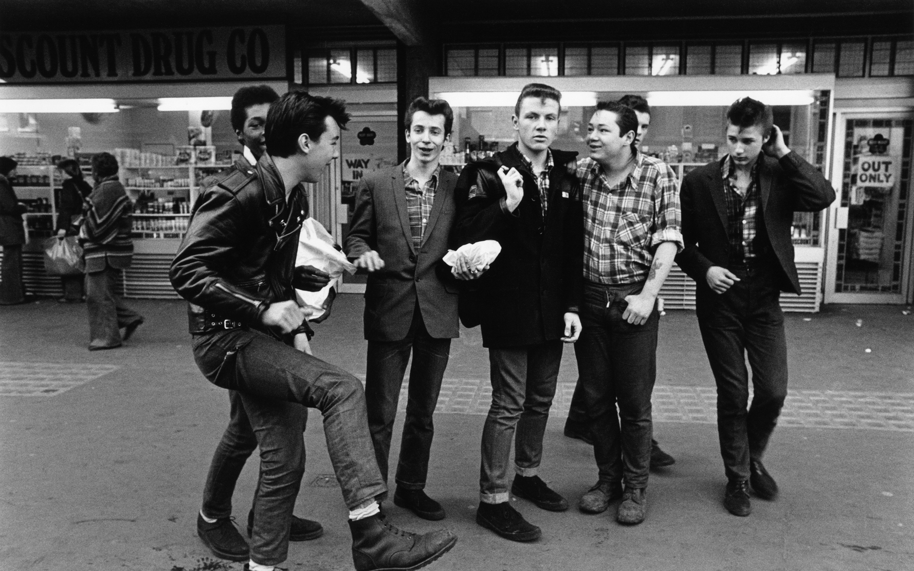 A group of Teddy boys / Rockers, London 1979. © Janette Beckman / PYMCA