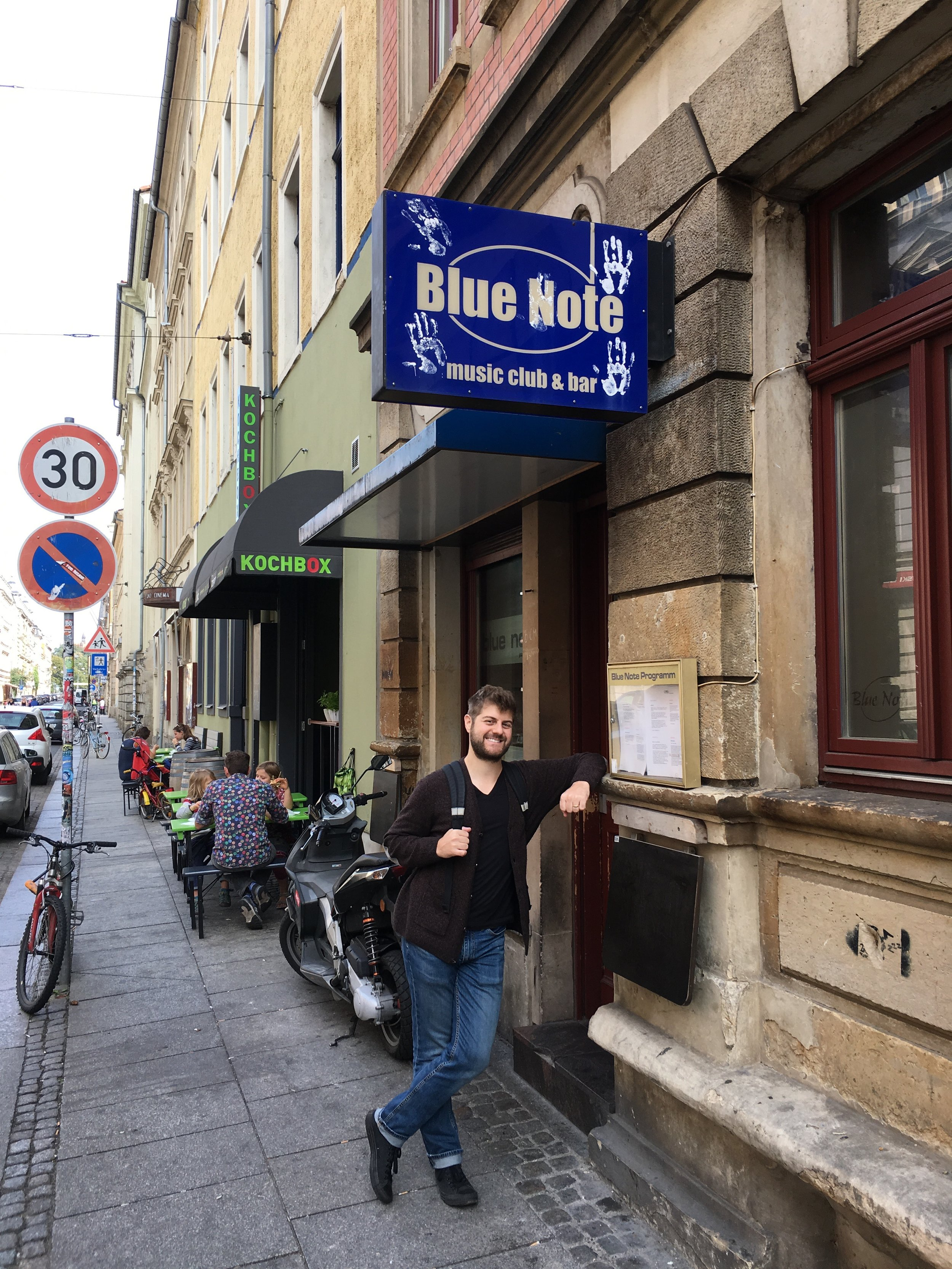 Jake Reed at the Blue Note in Dresden