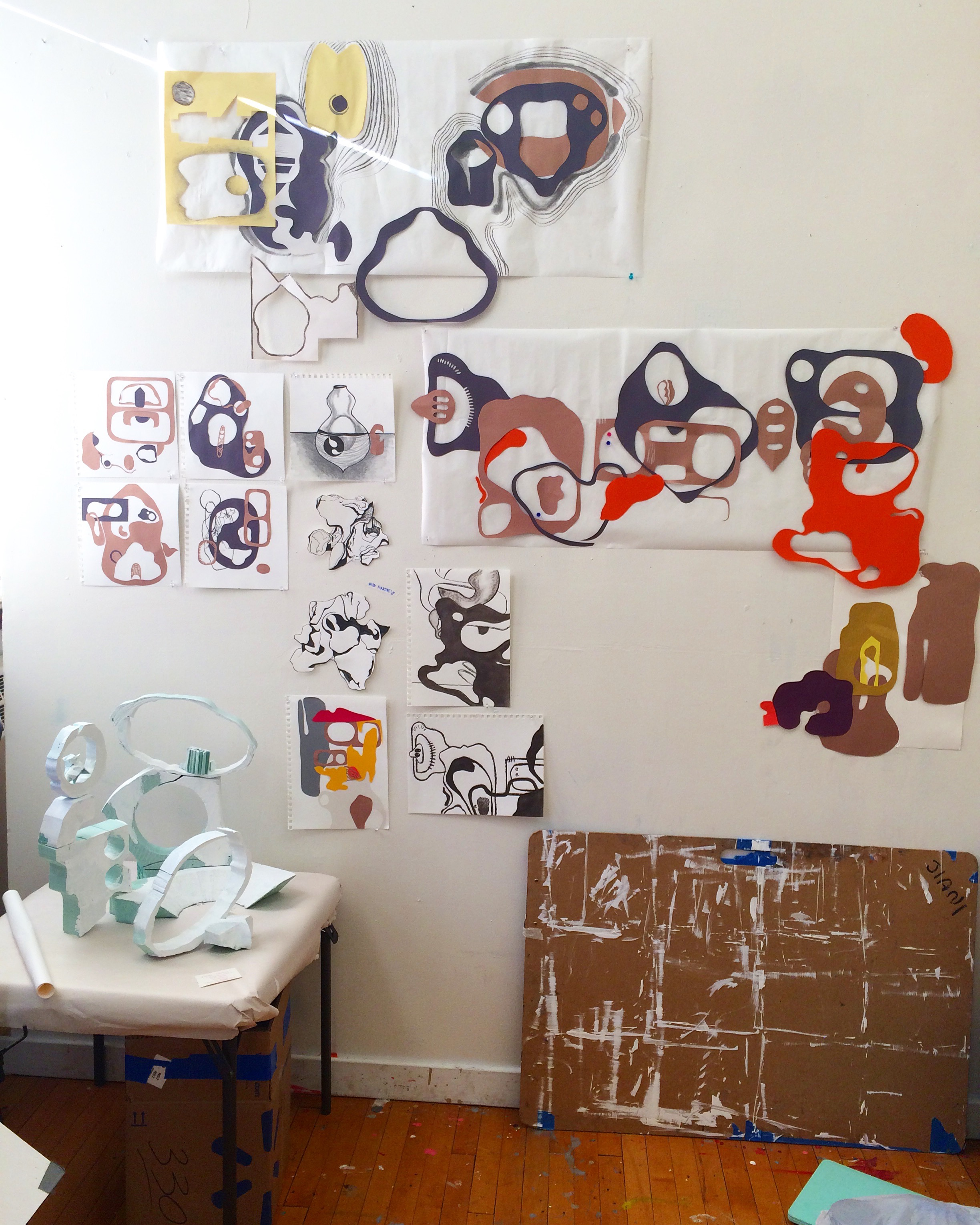And this is what my corner in the studio looks like yesterday.