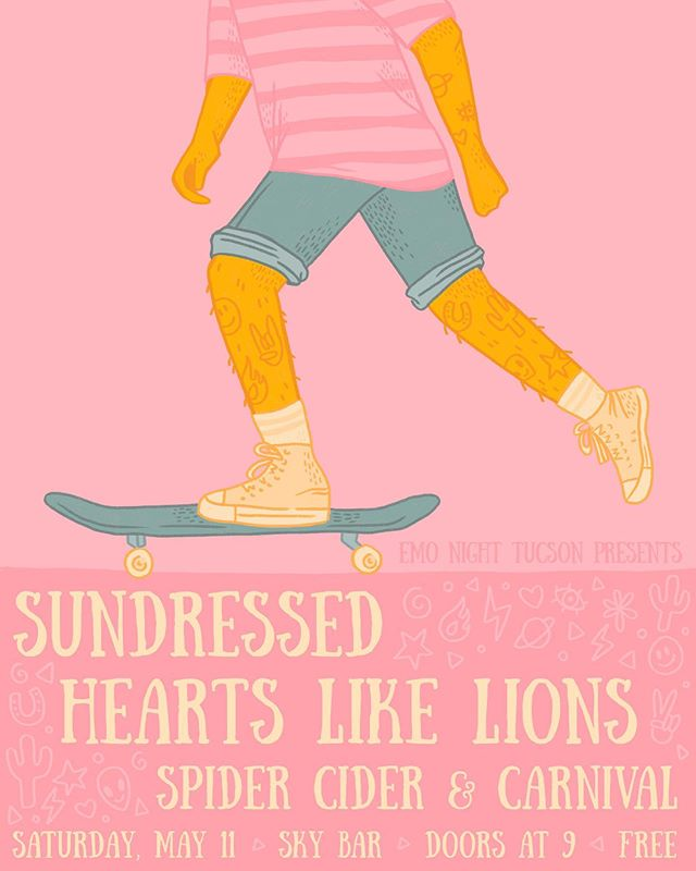 Last show of tour with the homies @sundressedband !  FREE SHOW SO COME HANG! #heartslikehomies