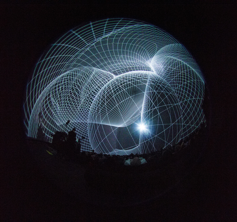 Florence's live light shows are designed to alter the way that humans experience architectural spaces.