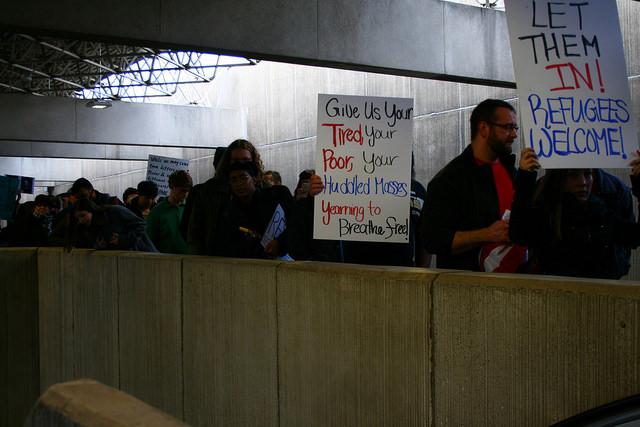 protest at Atlanta airport  via Flickr  by tani.P