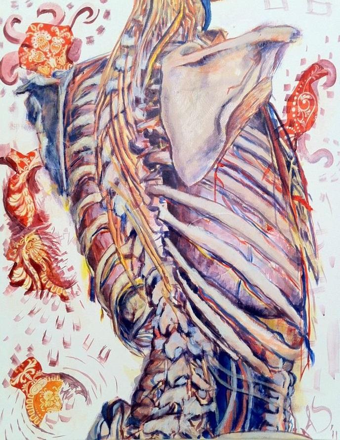 Nervous.  Ahmed Salahudeen. Acrylic on canvas. Fall 2015  Intima