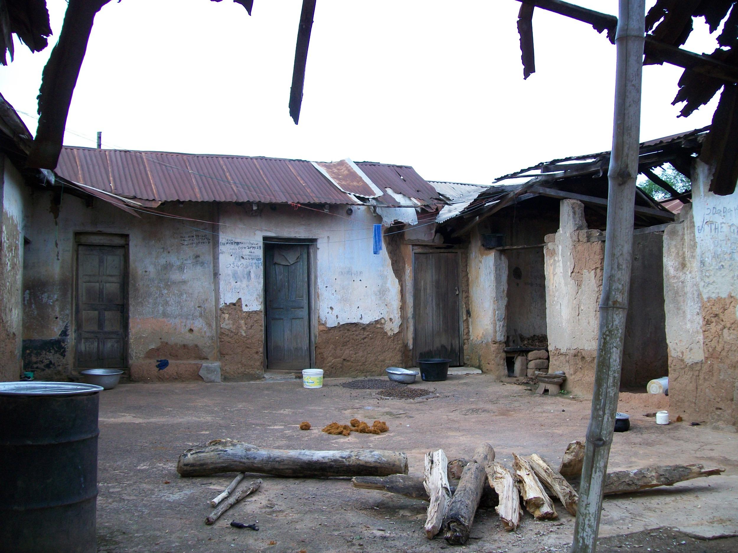 An abandoned home in Ajumako-Techiman, Central Region, Ghana, 2010.  Photo by M. Sophia Newman