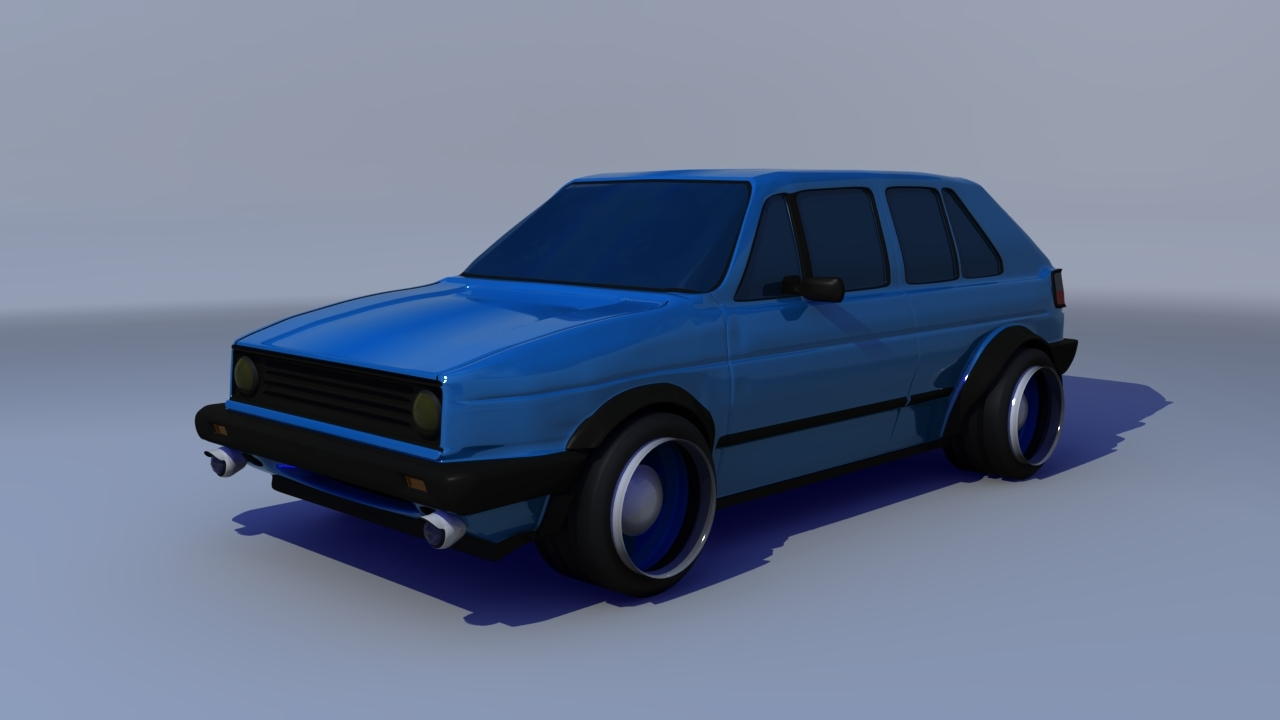 3D Model - Vw Golf MK2