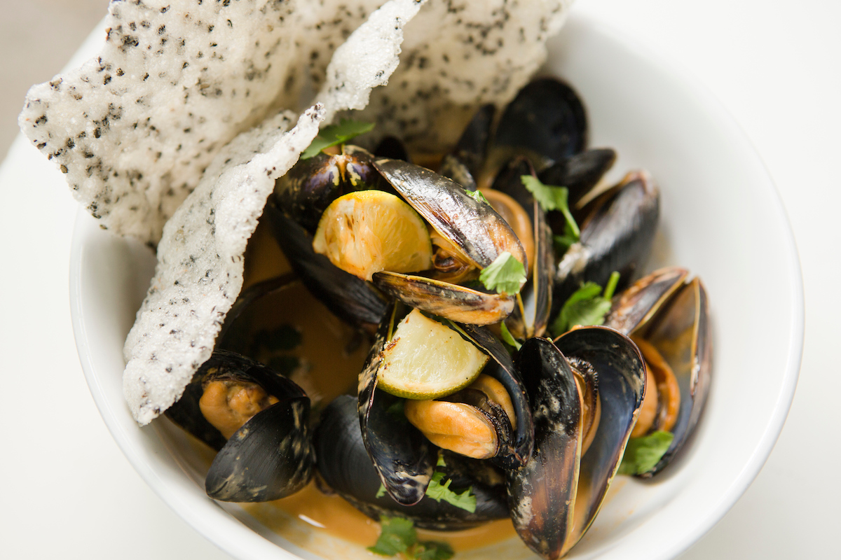 Panang Curry Mussels