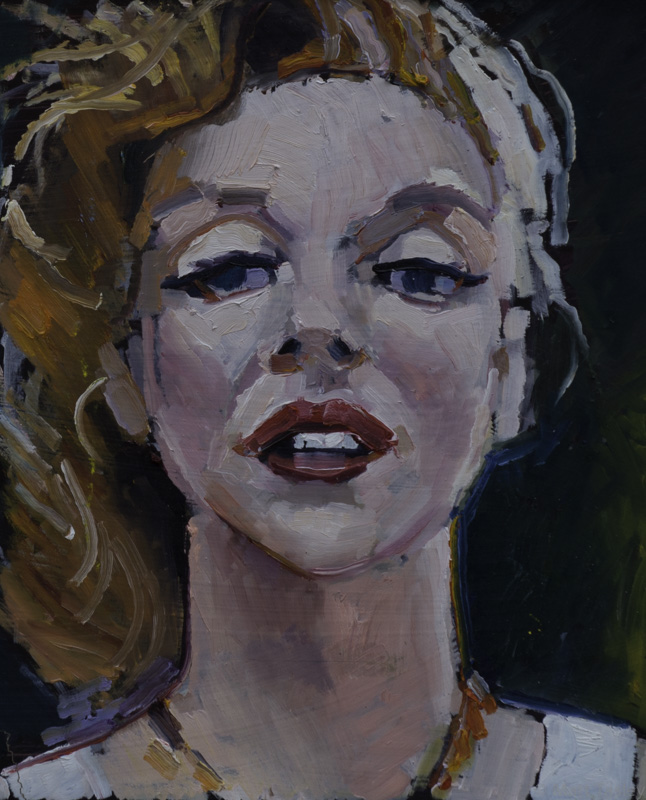 "Marilyn Monroe"", Oil on masonite, 16"" x 12"""