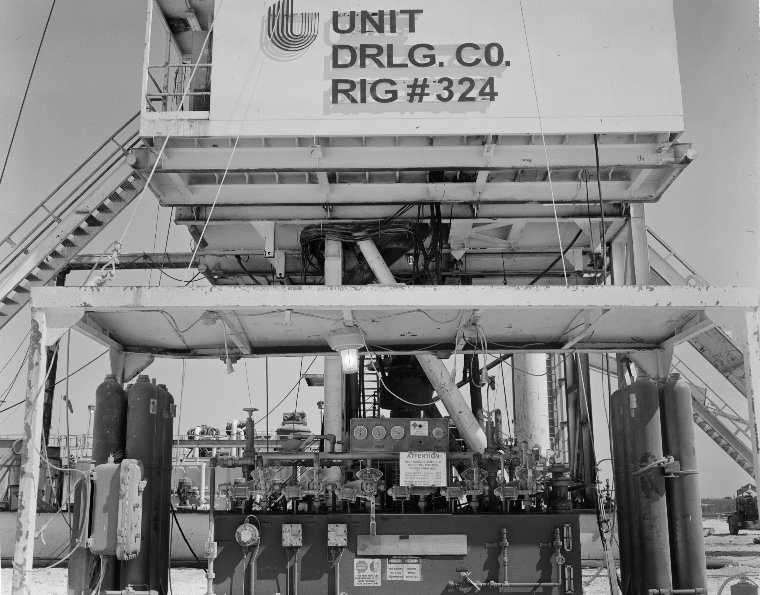 4x5 filmtaken in the oil fields of West Texas.