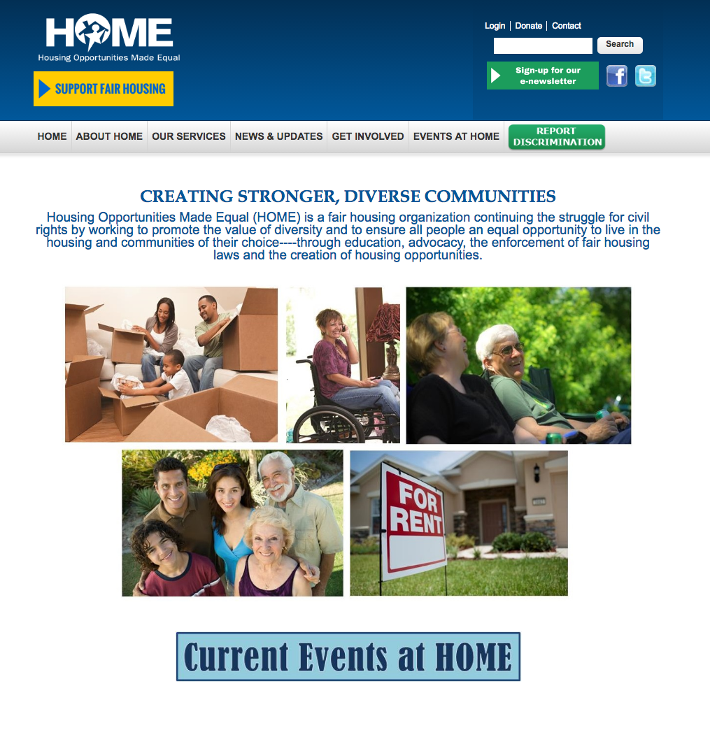 Homepage prior to Big Shifter