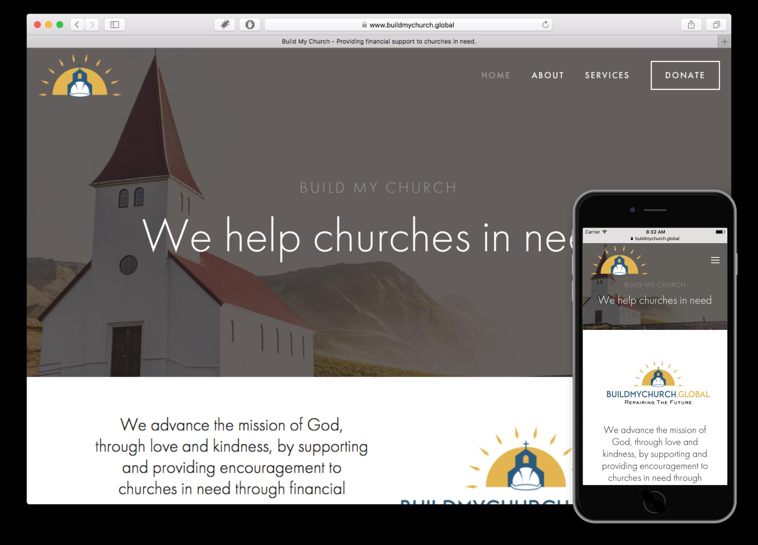 Build My Church Website